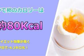 ゆで卵ダイエットは効果が高く7日で-4.2キロも!